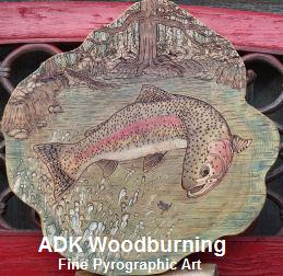 ADK Woodburning Fine Pyrographic Art